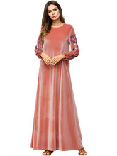 Abaya Per Le Donne Qatar emirati arabi uniti Bangladesh Velluto Musulmano  Vestito Delle Donne Robe Dubai Marocchino Caftano Abay. d52ada6e6d3