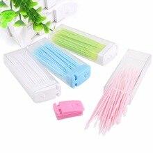 Toothpick-Brush Teeth-Stick Floss-Pick Dental-Floss Oral-Care Double-Head 50pcs/Box New