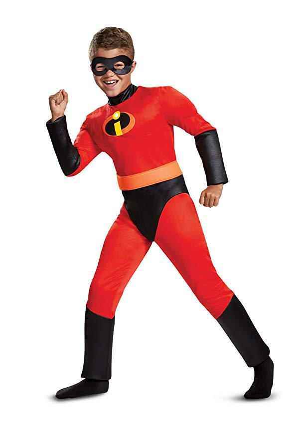 The Incredibles Cosplay Costume Super Man Red Jumpsuit Full Set Halloween Stage Children Party Gift Drop Ship