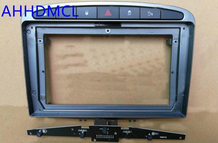 Car Fascia Navigation Frame Dash Frame Kit For 9 Universal Android Multimedia Player For Peugeot 408
