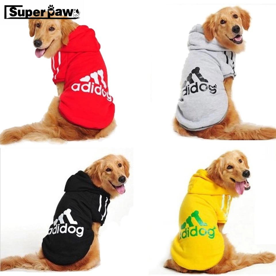 Small Medium Large Dog Clothes Puppy Winter Coat Adidog Jacket Hooded Sweater T-shirt For New 2019 Spring Pet Products GGC15