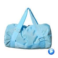 3acfdcda4a 75L Blue Multi-function Nylon Gym Sport Bag Men Women Travel Sport Bag  Barrel Fitness
