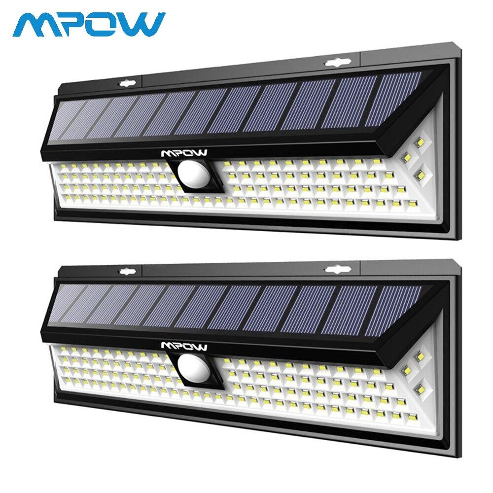 2 Pack 102 LED lumières solaires pour Mpow Super lumineux étanche applique PIR capteur de mouvement extérieur sécurité lumières Luces Solares