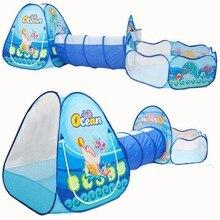 Océano Sence 3 unid Children Play Tent Túnel Crawl Niños Bola de Billar Tiendas de juguetes Bebé de Interior Al Aire Libre Uso Para Niños Grandes para Casa tienda de campaña