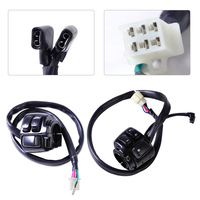 CITALL Motorcycle 1 Handlebar Ignition Kill Horn Hi/Lo Beam Turn Signal Switch Wiring Harness for Harley Davidson Softail Dyna