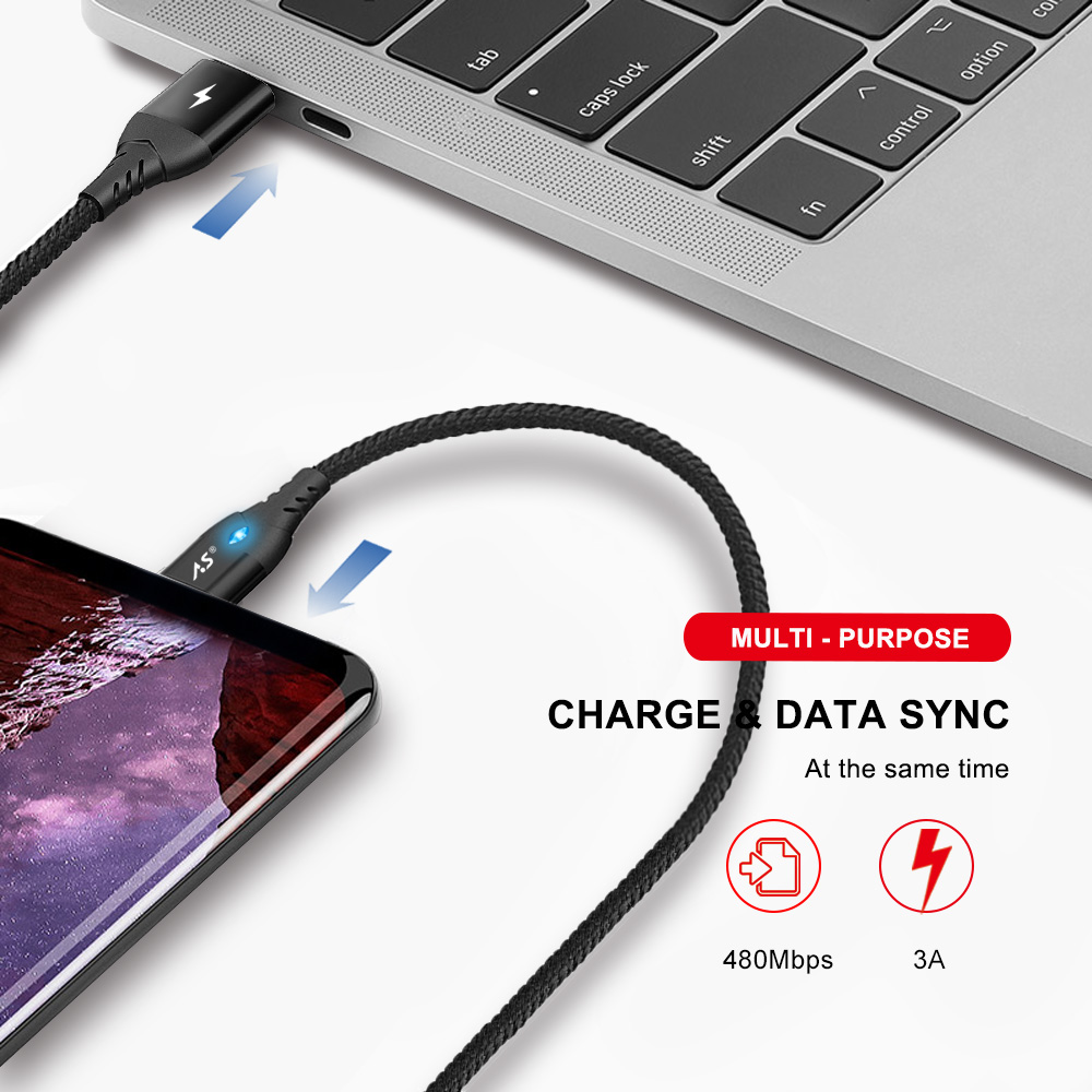 A.S Magnetic Cable Micro USB Type C Super Fast Charging Phone Microusb Type-C Magnet Charger usb c For iphone huawei xiaomi Data 2