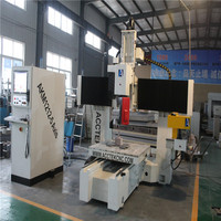 Small size table AKM1212 5AXIS 3D cnc router