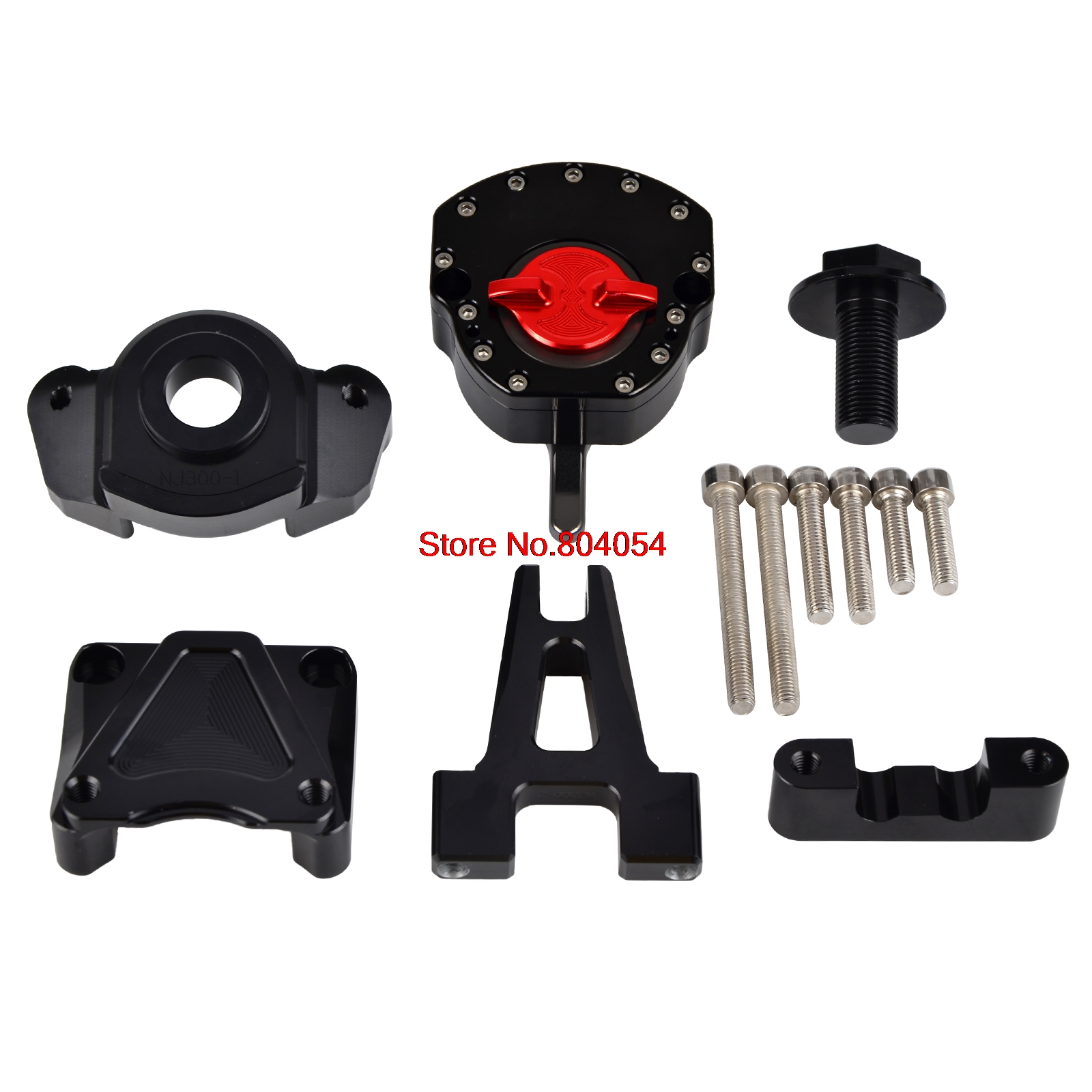 Motorcycle Steering Damper Stabilizer Mounting Bracket Kits For Kawasaki Ninja 250R 2008-2014 Ninja 300 2013-2016 cnc steering damper set stabilizer with bracket mounting assemblly for kawasaki ninja300 ninja 300 ex300 13 14 15 16 2013 2016