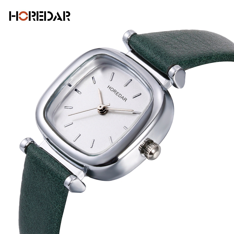 HOREDAR Vintage Square Women Watches 2017 Luxury Brand Ladies Dress Quartz Wrist Watch Elegant Wristwatch Montre Femme saat newly design dress ladies watches women leather analog clock women hour quartz wrist watch montre femme saat erkekler hot sale