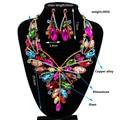 2017 Nueva Joyería de la Boda Collar Chapado En Oro Pendientes de Cristal Austriaco Juegos de Joyería Nupcial de La Boda Establece LF-G019