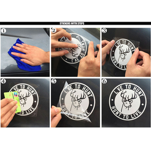 Image 3 - Adhesivo para coche de 14x15cm, adhesivo para puerta de coche, decoración para ventana, pegatinas para pared, accesorios para automóvil motocicleta, diseño para coche