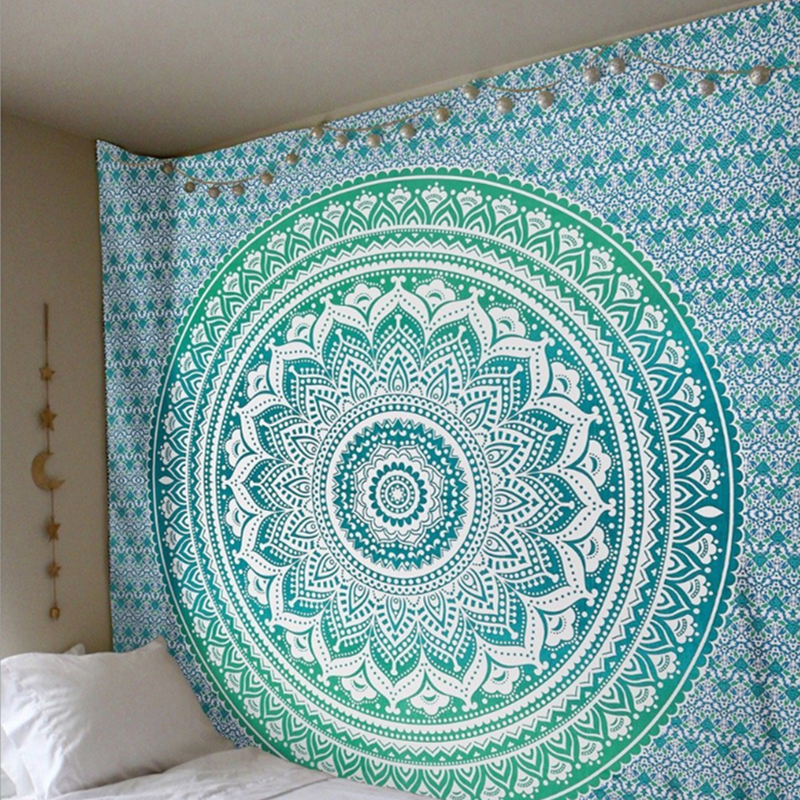 Indian Mandala Tapestry Wall Hanging Multifunctional Tapestry Boho Printed Bedspread Cover Yoga Mat Blanket Picnic cloth|Decorative Tapestries| |  - title=