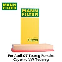 1pc MANN FILTER Car Air Filter For Audi Q7 Toureg Porsche Cayenne 3.2 3.6 4.5 VW Touareg 2.5 3.0 3.2 3.6 C39219