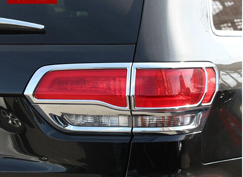 Accessoires Pour Jeep Grand Cherokee 2014 2015 2016 ABS Chrome Feu arrière Arrière Lampe Cadre Cover Version