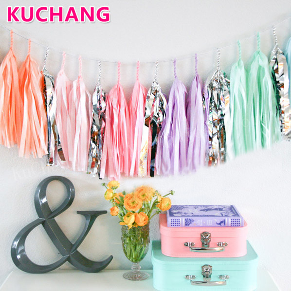 Aliexpress.com : Buy 1pack Tissue Foil Tassels Banner Rose