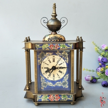 Rare Old Qing Dynasty royal BRASS clock \ l mechanical watch,can work, with mark, cello, Free shipping