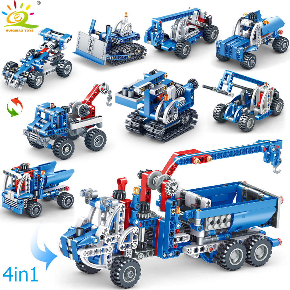 556pcs 4in1 Engineering Crane Truck Compatible legoing Technic Vehicle Building Block City Construction Bricks Toys For children556pcs 4in1 Engineering Crane Truck Compatible legoing Technic Vehicle Building Block City Construction Bricks Toys For children