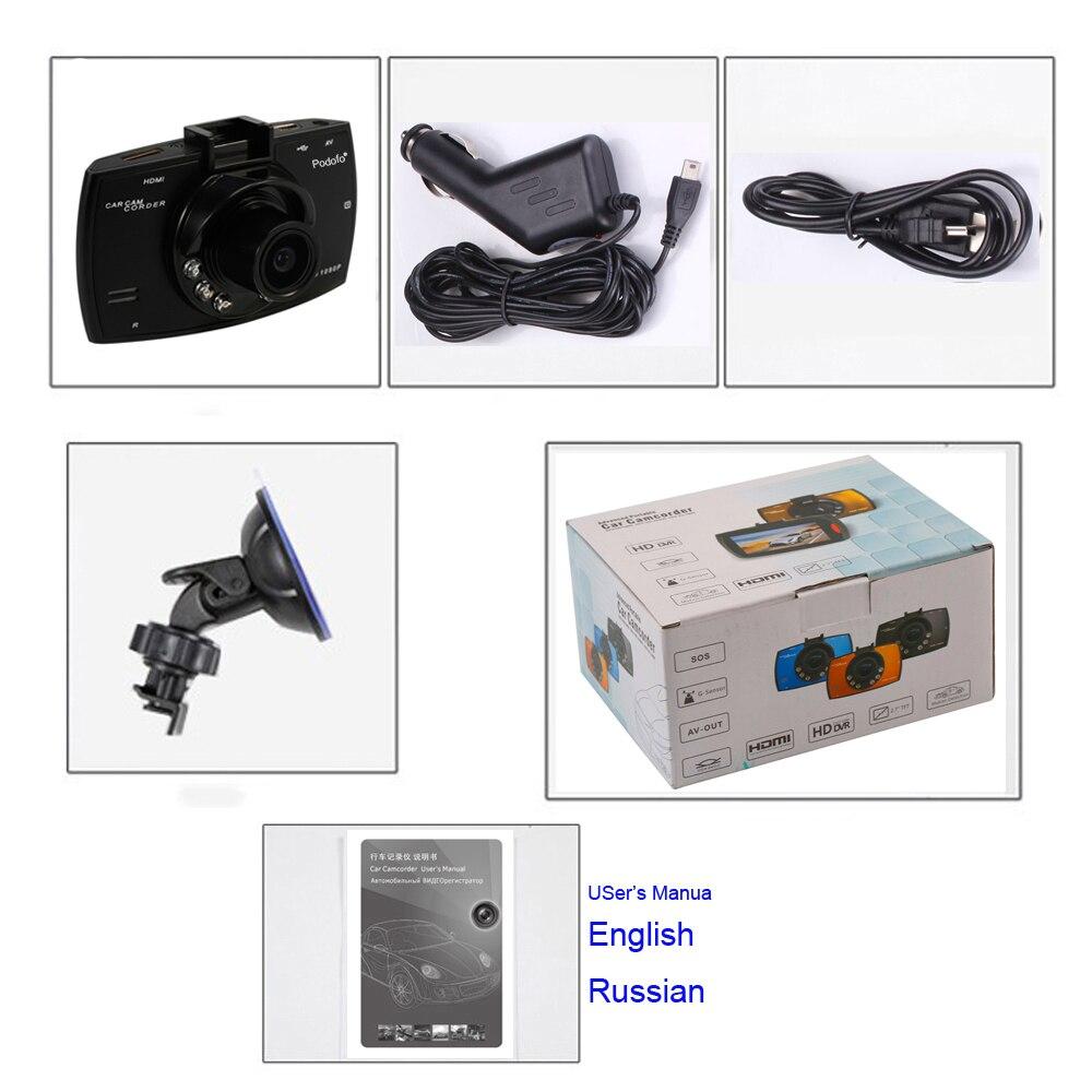 "Podofo Car Camera G30 Full Hd 1080p 2.7"" Car Dvr Driving Recorder + Motion Detection Night Vision G-sensor 32gb Dvrs Dash Cam #6"