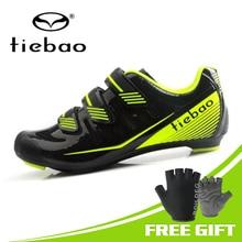 цена на Tiebao 2019 New Bicycle Shoes Men Outdoor Road Bike Cycling Shoes Sapatilha Ciclismo Riding Auto-lock Shoe Zapatos Ciclismo