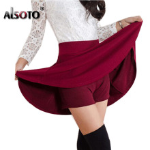 ALSOTO Summer style sexy Skirt Women Clothing Bottoms Korean Anti emptied lady Short Skater  mini Skirts envio gratis