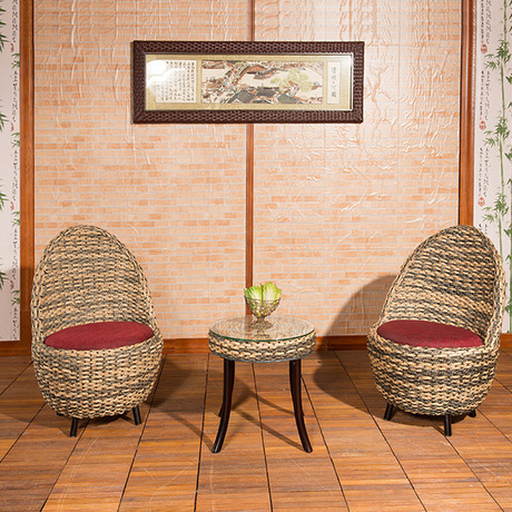 Garden Set Rattan Furniture Chairs + 1 Table Sets 6