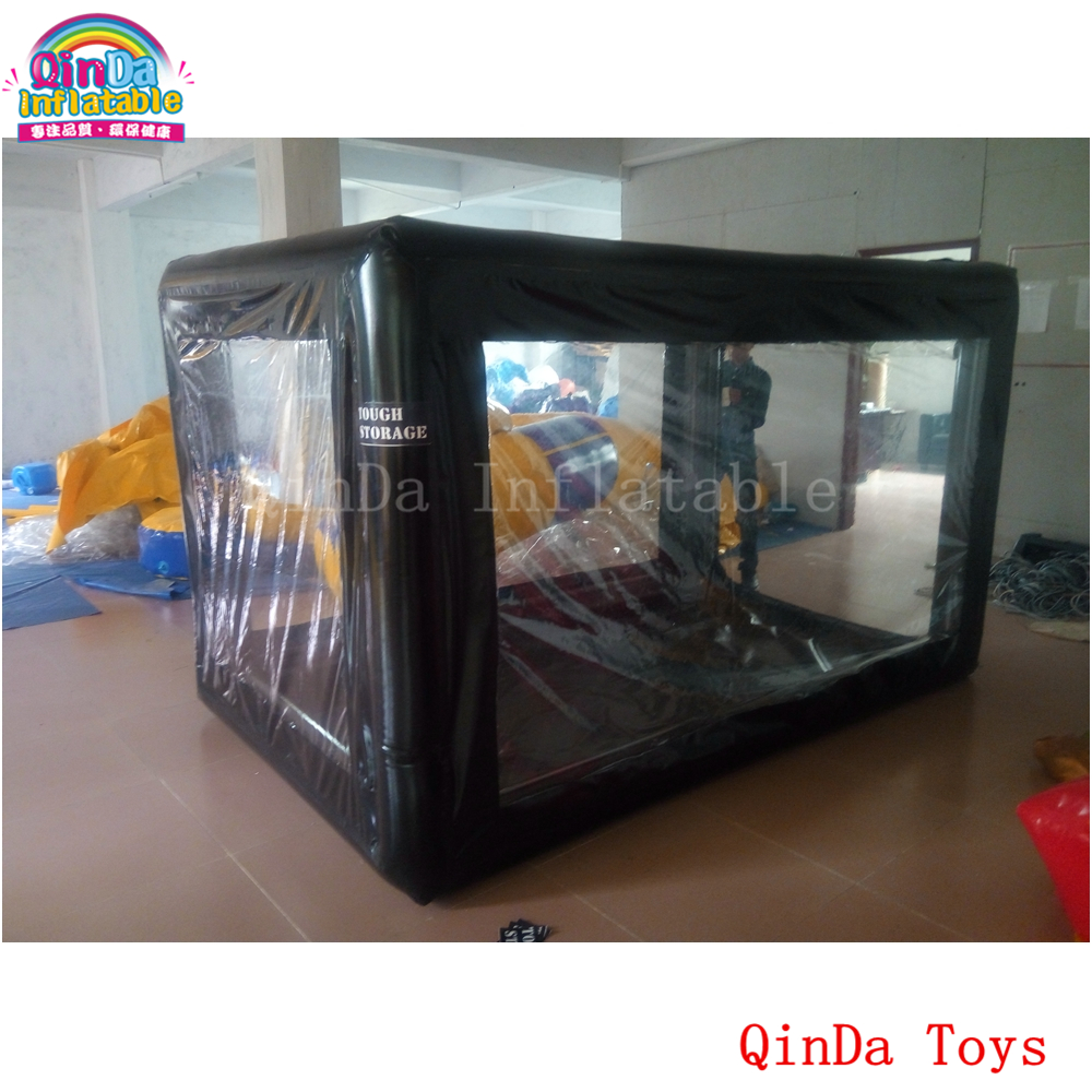 2.8*1.6*2m Inflatable Transparent Tent For Autobike Cover,free Air Pump Inflatable Motorcycle Showcase For Sale