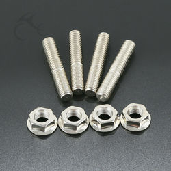 Motorcycle New Stainless Exhaust Port Studs Nuts For Harley Sportster Dyna Touring
