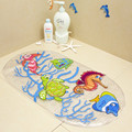 BM0610 Cartoon Dolphin PVC Anti-Slip Bath Mat Suction Cup For Baby Child Toilet Floor Carpet Bathroom Mats 39*69cm1 piece