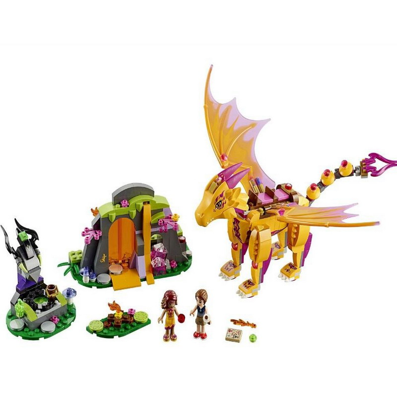 10503 BELA Elves Fire Dragon's Lava Cave Model Building Blocks Classic Enlighten DIY Figure Toys For Children Compatible Legoe decool 3117 city creator 3 in 1 vacation getaways model building blocks enlighten diy figure toys for children compatible legoe