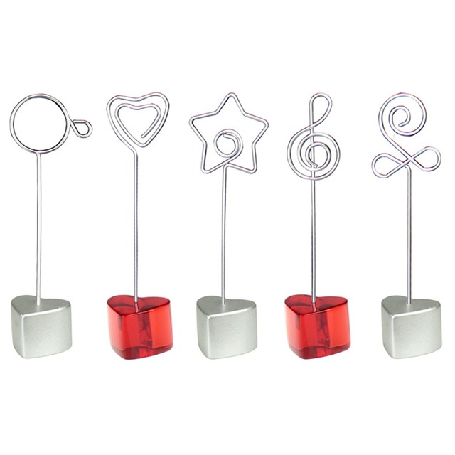 7216725cf3b2 Lot 10pcs H Heart Base Craft Wire Photo Clip