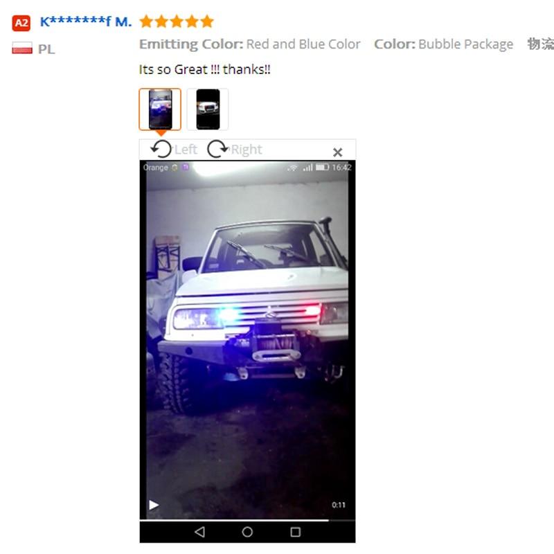MIXC TRENDS 2x3 Led Ambulance Police Strobe