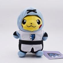 6pcs/set Anime Pikachu Cosplay Team Rocket Magma Aqua Galactic Flare Plasma Plush Toys Soft Stuffed Dolls 8inch 20cm