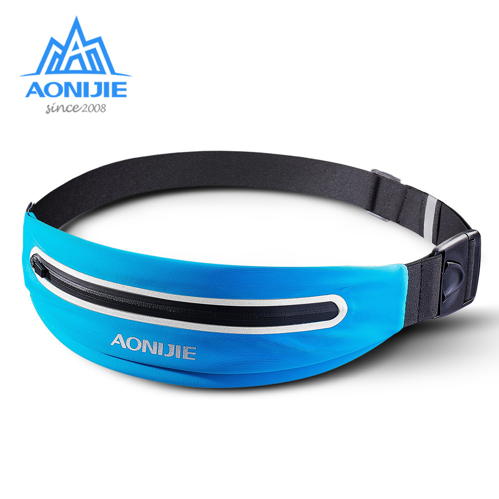AONIJIE E919 Adjustable Slim Running Waist Belt Jogging Bag Fanny Pack Travel Marathon Gym Workout Fitness 6.0-in Phone Holder