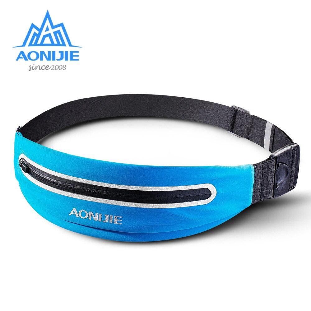 AONIJIE E919 Adjustable Slim Running Waist Belt Jogging Bag Fanny Pack Travel Marathon Gym Workout Fitness 6.0-in Phone Holder