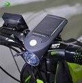 Велосипедный фонарь  240 люмен  на солнечных батареях  USB  перезаряжаемый  передний  светодиодный  3 Вт  F1073