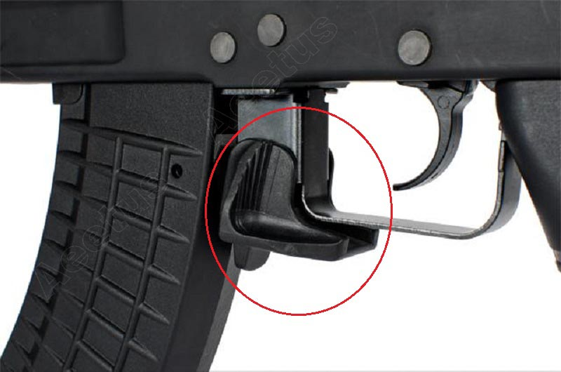 AKMR FOR AK BLACK Softair Airsoft Polymer Magazine Release Extension
