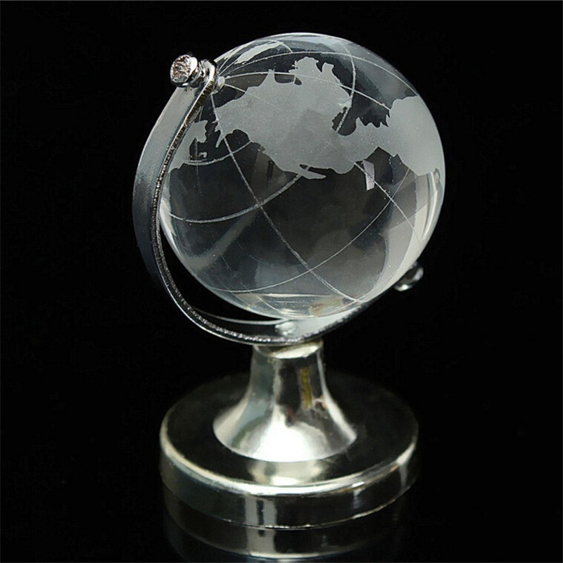 World map earth round globe crystal glass clear paperweight stand world map earth round globe crystal glass clear paperweight stand desk decor in figurines miniatures from home garden on aliexpress alibaba group gumiabroncs Gallery