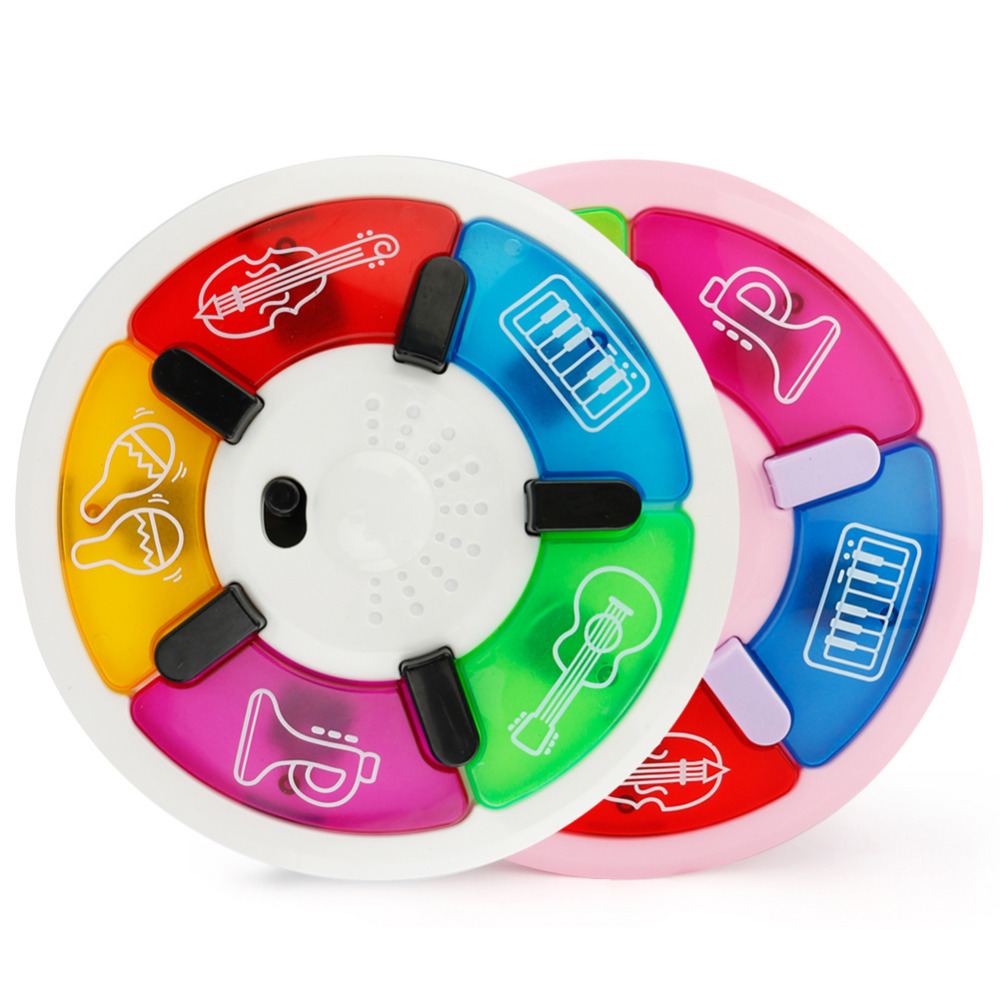New Baby toys Cartoon music multi-function tapping music discs with Music & Colorful Lights