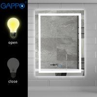 Gappo 3 Styles Bath Mirror Led magnifier cosmetic mirror touch switch light adjustable wall mounted light bathroom makeup mirror