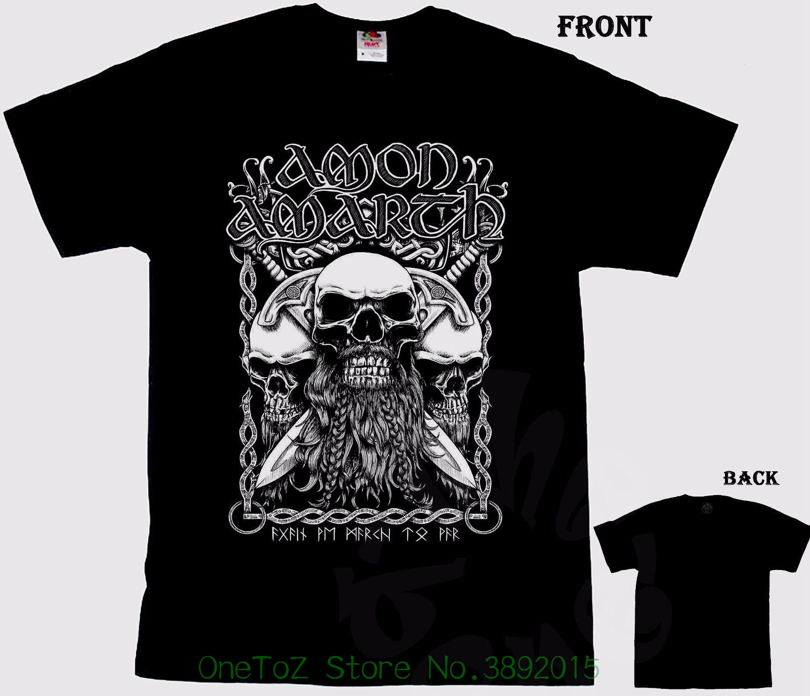 2018 Summer T-shirts For Men Amon Amarth - Melodic Viking Death Metal Band , T-shirt - S ...