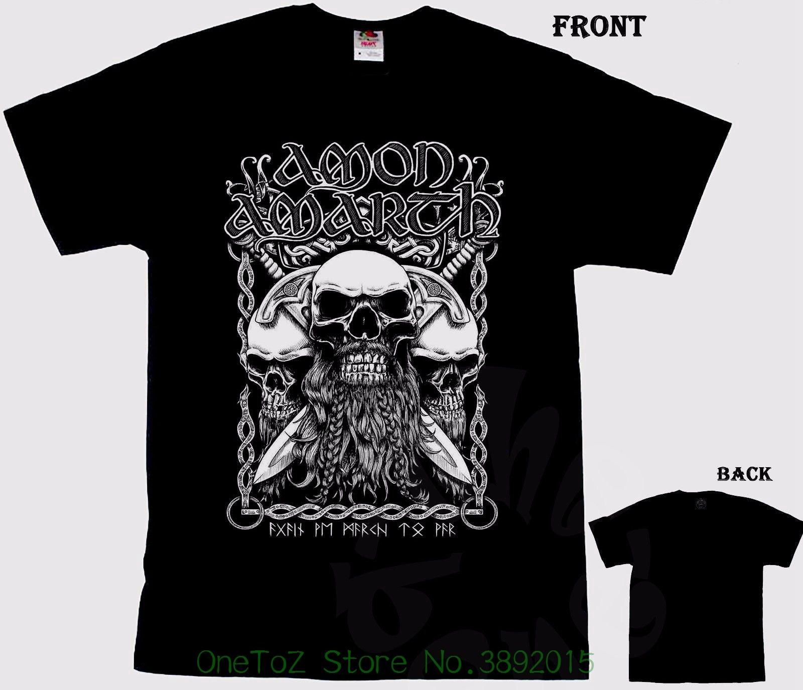 2018 Summer T-shirts For Men Amon Amarth - Melodic Viking Death Metal Band , T-shirt - S ...