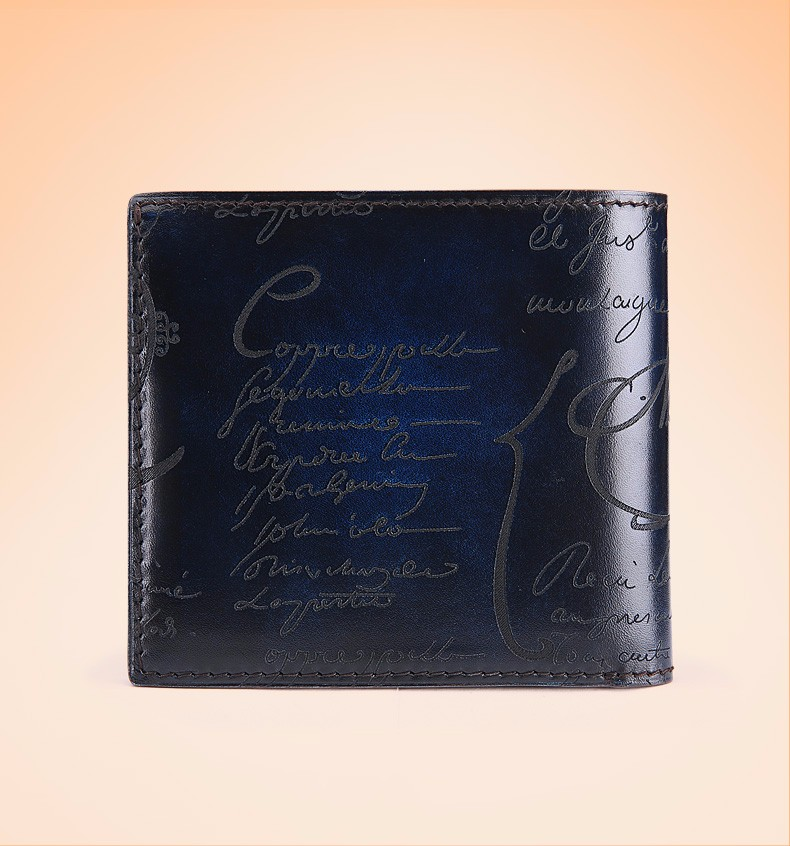 blue mens wallet