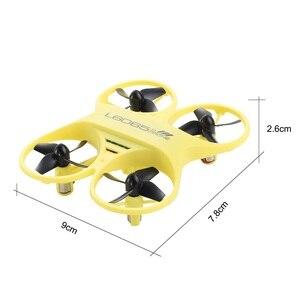 Image 4 - Mini RC QuadcopterอินฟราเรดควบคุมDrone 2.4GHzเครื่องบินLED Lightของขวัญวันเกิดสำหรับของเล่นเด็กMini Drones