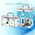 A liga de alumínio pequena caixa de medicina de família Coreana de primeiros-socorros com uma caixa de bloqueio caixa de remédios em casa