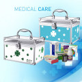 Aluminum alloy small family medicine box Korean first-aid kit with a lock box home medicine box