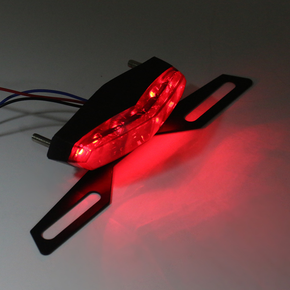 New Abs And Metal Black Professional Led Motorcycle Rear Tail Light Good Quality Brake Stop Light Drop Shipping