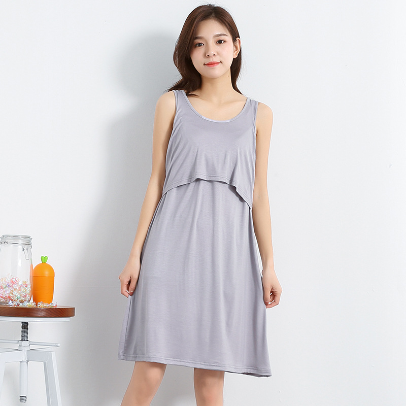 2018 MINIAFAMINI new summer maternity fashion dress for pregnant women breastfeeding dress o neck sheath nursing A-line dresses