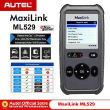 AUTEL MaxiLink ML529 Scanner Auto OBDII Mode 6 OBD2 Car Diagnostic Tool eobd Built-in DTC Lookup Speaker Clear Code Reader AL519