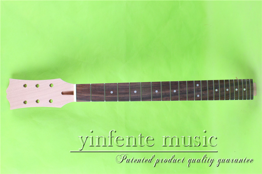 L -00138 #  unfinished   24.75 Electric guitar neck fine quality rosewood    fingerboard l