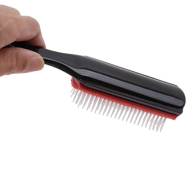 20.5cm longueur antistatique 9 rangées brosse à cheveux artisanat brosse à cheveux coiffure cuir chevelu masseur peigne à cheveux outils de coiffure santé